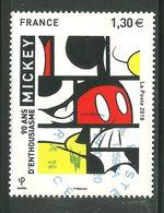 2018 Yt 5259 (o) Mickey, 90 Ans D'enthousiasme ! - France
