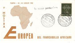 Europa - Idées Européennes - Italie - Lettre De 1960 - Oblit Parma - 1 Ière Exposition Timbres Africain - Europese Gedachte