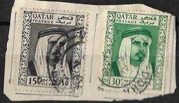 Qatar 1961 Naye Paise Surcharged Sheikh Used - Qatar