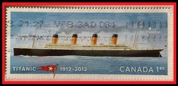 110.CANADA 2012 USED STAMP TITANIC , SHIPS, FLAGS. - Used Stamps