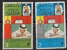 Qatar 1981 Education Day 2 Value Boy Writing Used - Qatar