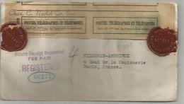 LETTRE REG USA POUR PARIS CENSURE NAZI + SCEAU REBUT DE LA SEINE + MENTION RETARDEE SERVICES DE CONTROLES RARE - Marcophilie (Lettres)