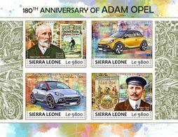 Sierra Leone 2017 Adam Opel ,cars - Sierra Leone (1961-...)