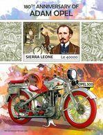 Sierra Leone 2017 Adam Opel , Bicycles And Motor-cars (poster) - Sierra Leone (1961-...)