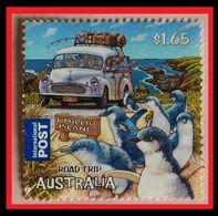 110.AUSTRALIA ($1.65) USED STAMP ROAD TRIP, PENGUINS  . - 2010-... Elizabeth II