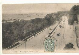 CPA,.29 , N°28, Brest , Les Rampes Et La Rade , Animée Ed. LL. 1906 - Brest