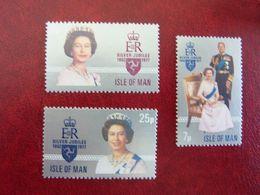 1977  Queen Elisabeth II   SG =  94 / 96   ** MNH - Man (Insel)