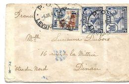 Bro019 / FIJI - (Levuka) 1945 Nach Dinan, Frankreich - Fidji (...-1970)