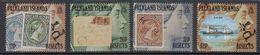 Falkland Islands 1991 Centenary Of Bisected Stamps 4v ** Mnh (48687) - Falkland Islands