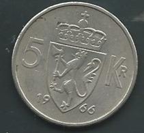 Norvege   , NORGE 1966 5 Kroner   Pia 23301 - Norwegen