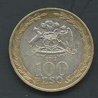 Chili 100 Pesos 2012  Pia 23304 - Cile