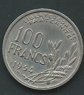 MONNAIE FRANCE 100 FRANCS COCHET 1954  Pia 23305 - France