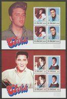 4 BLOCS NEUFS DE ST-VINCENT - ELVIS PRESLEY - TIMBRES N° Y&T 870 A 877 - Elvis Presley