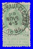 """COB N° 56 - Belle Oblitération """"FEXHE-LE-HAUT-CLOCHER"""" - 1893-1900 Thin Beard"""