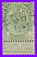"COB N° 56 - Belle Oblitération ""FONTAINE-VALMONT"" - 1893-1900 Thin Beard"