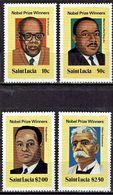 St. Lucia - Mi-Nr 494/497 Postfrisch / MNH ** (H458) - Nobelpreisträger
