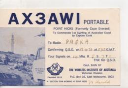 Cpa.Cartes QSL.AX3AWI.Australia.1970.to PAOKA - Radio Amatoriale
