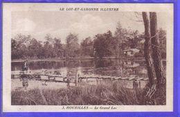 Carte Postale 47. Houeilles  Le Grand Lac  Très Beau Plan - Autres Communes