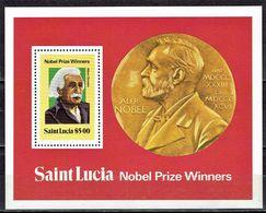 St. Lucia - Mi-Nr Block 22 Postfrisch / MNH ** (H459) - Nobelpreisträger