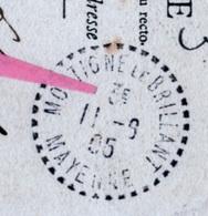 MAYENNE - MONTIGNE LE BRILLANT - Levée Centrale - 3ème Levée ( L.109 ) - Postmark Collection (Covers)