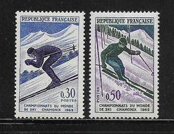 FRANCE  ( FR6 - 92 )  1962  N° YVERT ET TELLIER  N° 1326/1327    N** - France