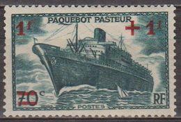Paquebot Pasteur - FRANCE - Marine - N° 502 * - 1941 - Unused Stamps
