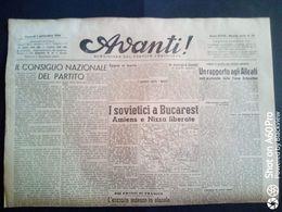 AVANTI (QUOTIDIANO DEL PARTITO SOCIALISTA) LOTTO X 3 DAL 1 AL 3 SETTEMBRE 1944 - Guerra 1939-45