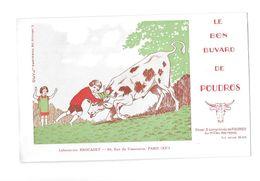 Buvard Publicitaire : Le Bon Buvard De POUDROS, Laboratoire BROCADET à PARIS 15 Ième, Illustré A. De Masquard - Agriculture