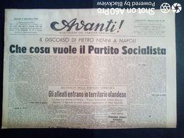 AVANTI (QUOTIDIANO DEL PARTITO SOCIALISTA) LOTTO X 6 DAL 5 AL 10 SETTEMBRE 1944 - Guerra 1939-45