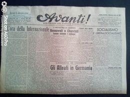 AVANTI (QUOTIDIANO DEL PARTITO SOCIALISTA) LOTTO X 6 DAL 12 AL 17 SETTEMBRE 1944 - Guerra 1939-45