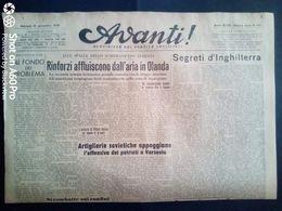 AVANTI (QUOTIDIANO DEL PARTITO SOCIALISTA) LOTTO X 2 DEL 19 E DEL 20 SETTEMBRE 1944 - Guerra 1939-45