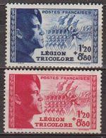 Légion Tricolore - FRANCE - Garde Impériale, Grenadiers - N° 565-566 * - 1942 - Unused Stamps
