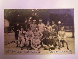 2020 - 6487  WÜLZBURG  (Bayern/Bavière)  1918  :  Carte Photo De Militaires Après La Dissolution Du FORT   XXX - Guerre 1914-18
