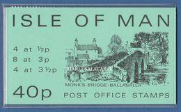 ISLE OF MAN 1974  SACHET/ BOOKLET 40p MONK'S BRIDGE GREEN COVER  S.G. SBS 4 - Man (Insel)