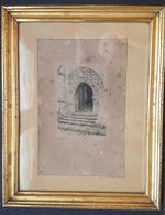 GRAVURE SOUS CADRE - PORTAIL DE L'EGLISE DE SAVONNIERE (CHER) - LOUIS EMILE DELBAUVE (1854/1938) - ART ROMAN - Estampes & Gravures