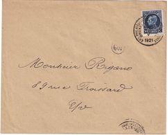 BELGIQUE 1921 LETTRE EXPO PHILATELIQUE DE BRUXELLES - Belgium