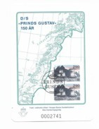 1989 Norway Souvenier Sheet, (not Valid For Postage), (ship) Prinds Gustav - Prove E Ristampe