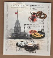 AC - TURKEY BLOCK STAMP  - EUROMED 2020 TRADITIONAL GASTRONOMY IN THE MEDITERRANEAN MNH 13 JULY 2020 - 1921-... Repubblica