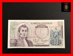 COLOMBIA 10 Pesos Oro 7.8.1980 P. 407 UNC - Kolumbien