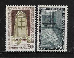 FRANCE  ( FR6 - 128 )  1963  N° YVERT ET TELLIER  N° 1380/1381    N** - Neufs
