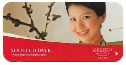 Meritus Mandarin Hotel, Singapore, Used Magnetic Hotel Room Key Card # Meritus-1 - Hotelkarten
