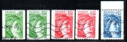 N° 1980,81,81A,2104,2156 - 1977 - 81 - 1977-81 Sabine Van Gandon