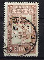 VENEZUELA 1950, Censo Nacional Recensement  Yvert 309, 1 Bolivar Brun Lilas Obl TB - Venezuela