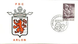 14169016 Belgique  19690315 Arlon; Arlon, Voyageurs Romains, Sculpture ; Fdc Cob1486 - FDC