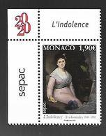 Monaco 2020 - Yv N° 3240 ** - Eva Gonzalès  (L'Indolence) - Sepac - Ungebraucht