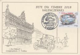 Carte  Locale  Maximum  1er  Jour   FRANCE   FETE  DU  TIMBRE    VALENCIENNES    2018 - Cartes-Maximum