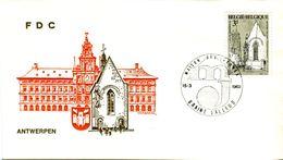 14169022 Belgique  19690315 Braine-L'Alleud; 150 Ans Enseignement à Anvers, Maison Des Jeunes; Fdc Cob1487 - FDC