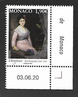 Monaco 2020 - Eva Gonzalès **  (L'Indolence) - Sepac - Monaco