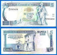 Malte 5 Liri 1994 Loi De 1967 Serie B 12 Malta Que Prix + Port Billet Paypal Bitcoin OK - Malta