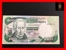 COLOMBIA 200 Pesos Oro 1.11.1989  P. 429  UNC - Kolumbien